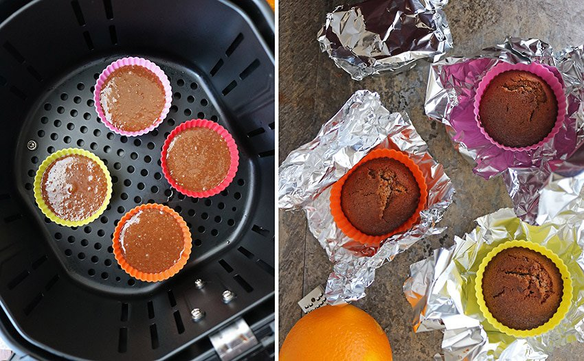 Air Fryer Chocolate Orange Cupcakes Pic