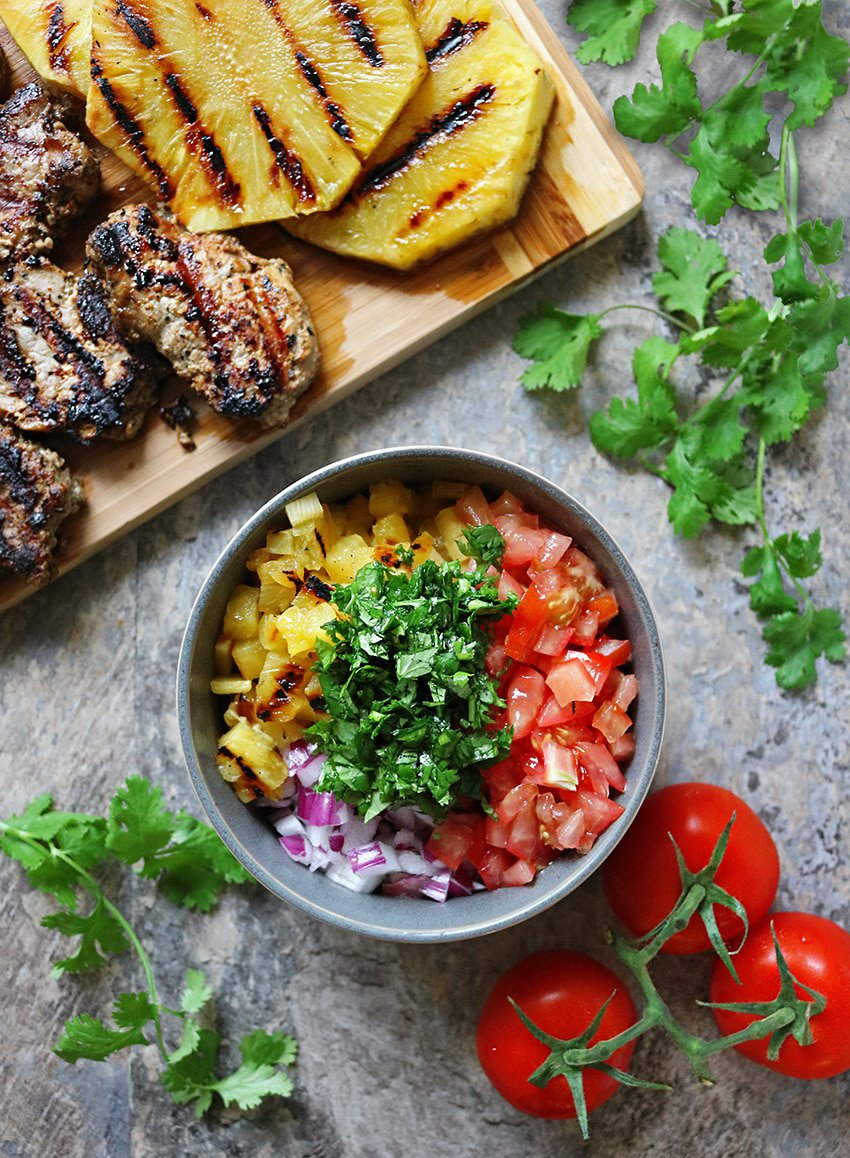 Four-ingredient Roasted Pineapple Salsa