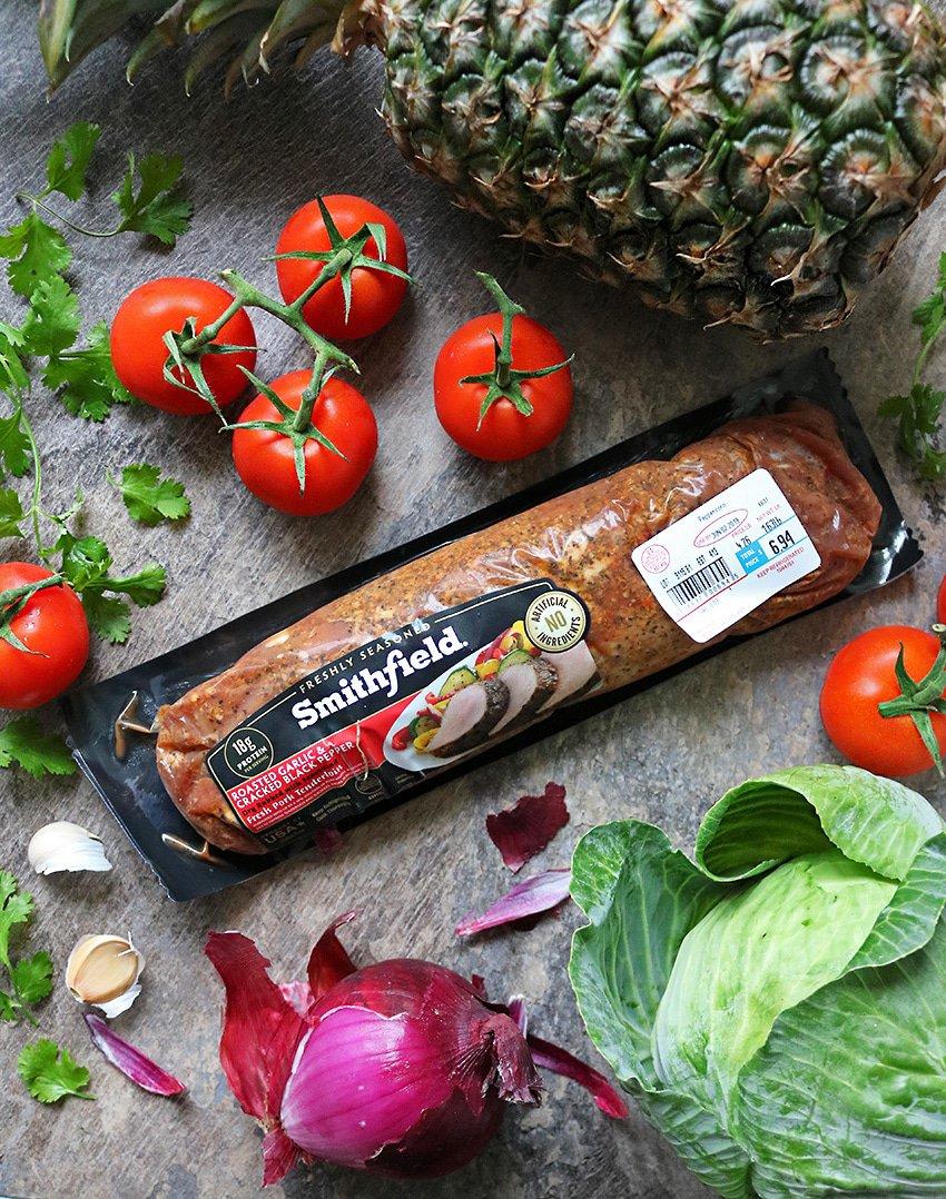 Versatile, Smithfield Roasted Garlic Cracked Pepper Pork Tenderloin.