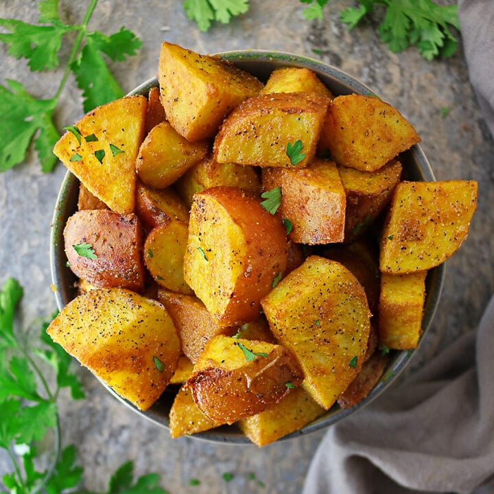 Easy Melt In Your Mouth Spiced Turmeric Potatoes