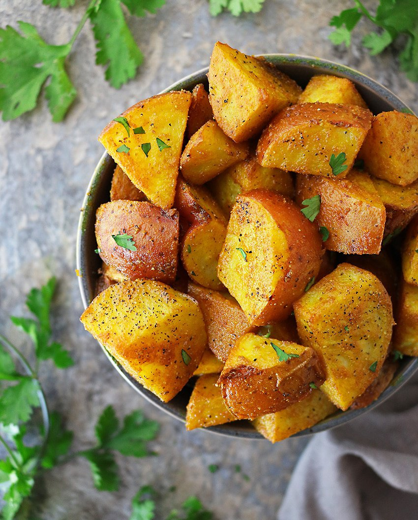 Melt In Your Mouth Spicy Turmeric Potatoes