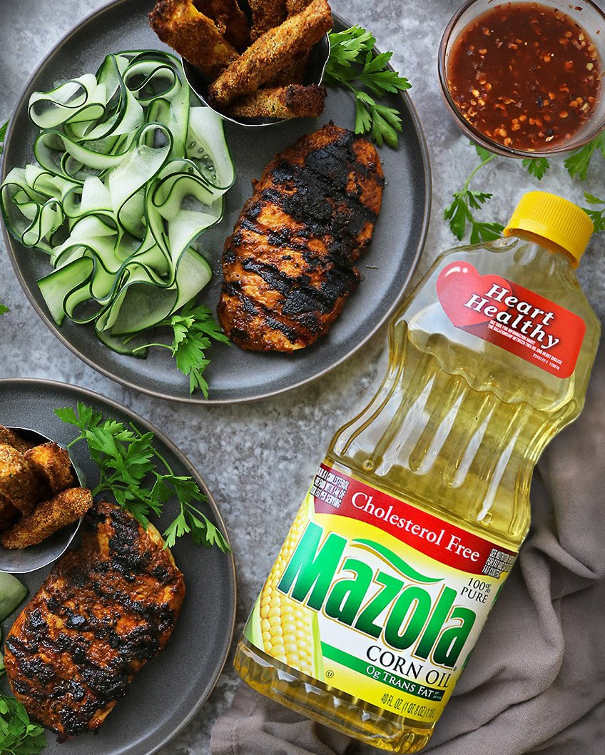 Grilled Curry Chicken with Mazola Corn Oil