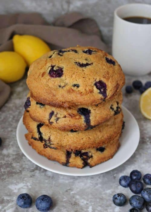 Lemon Blueberry Muffin Tops Recipe (Gluten-free)