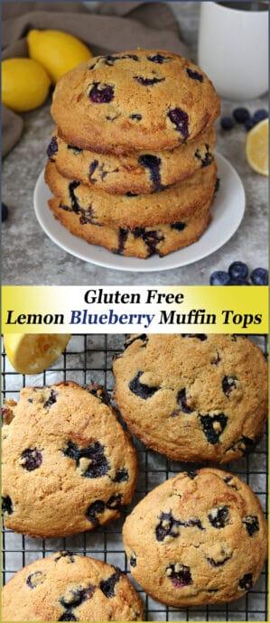 Gluten Free Lemon Blueberry Muffin Tops Recipe