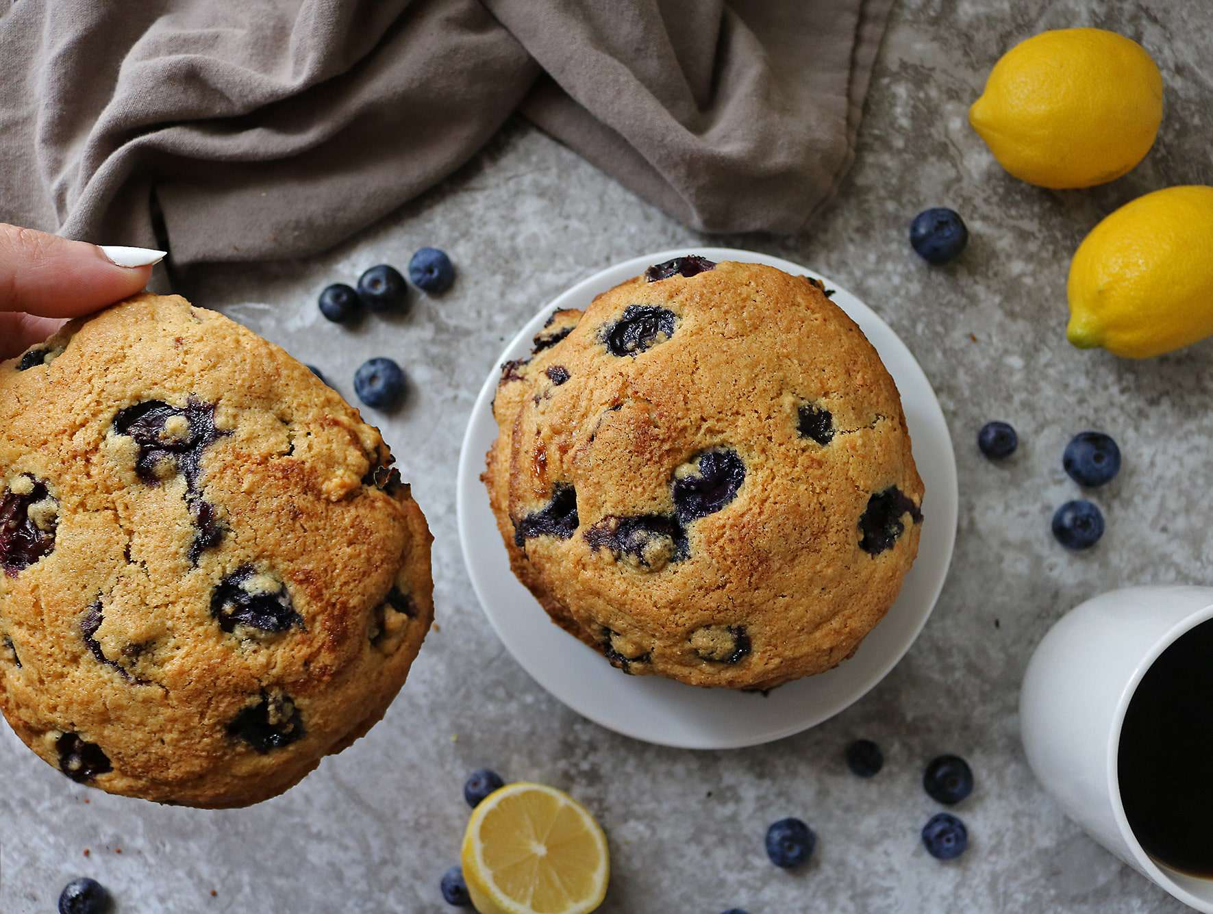 Gluten Free Lemon Blueberry Muffin Tops Pic