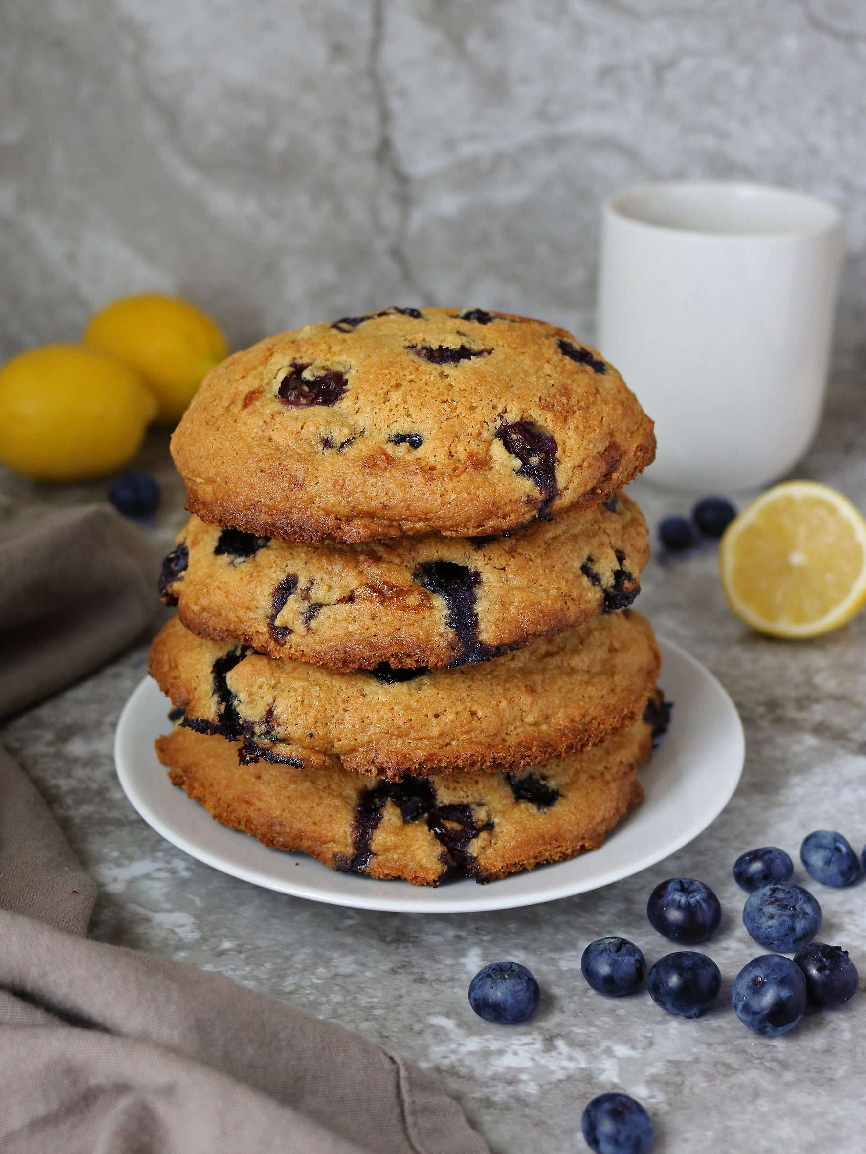 Gluten Free Lemon Blueberry Muffin Tops