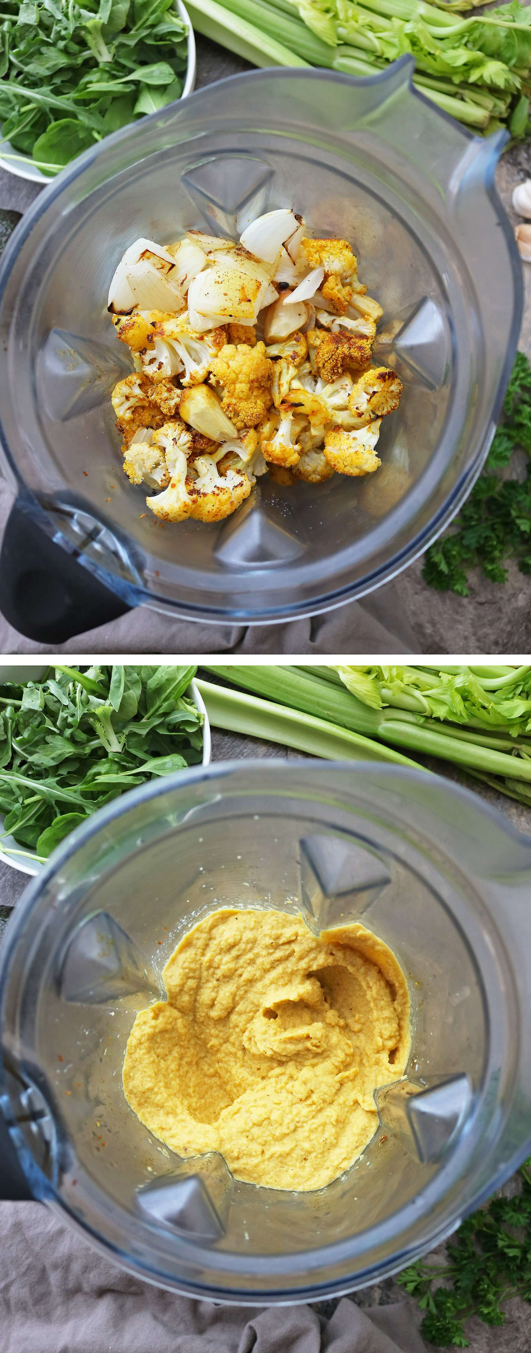 Making Vegan Keto Turmeric Cauliflower Mash in 20 minutes.