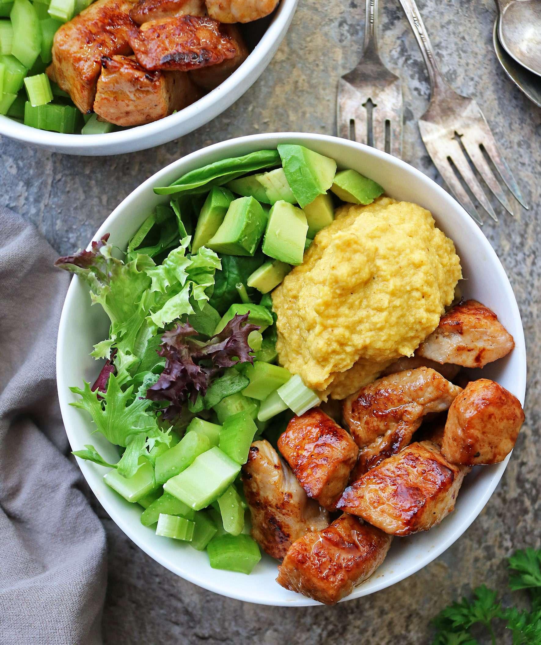 Vegan, Keto-friendly, Turmeric Cauliflower Mash.