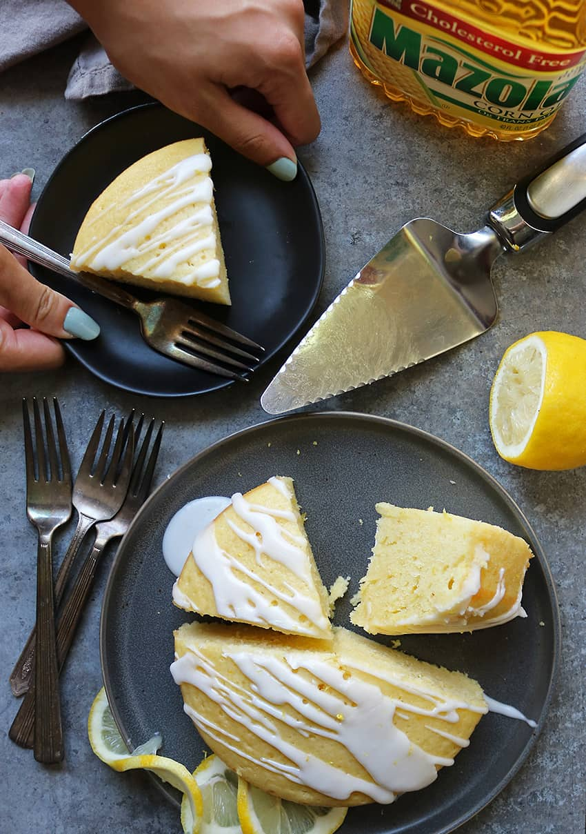 Delicious Lemon Cake With Oil