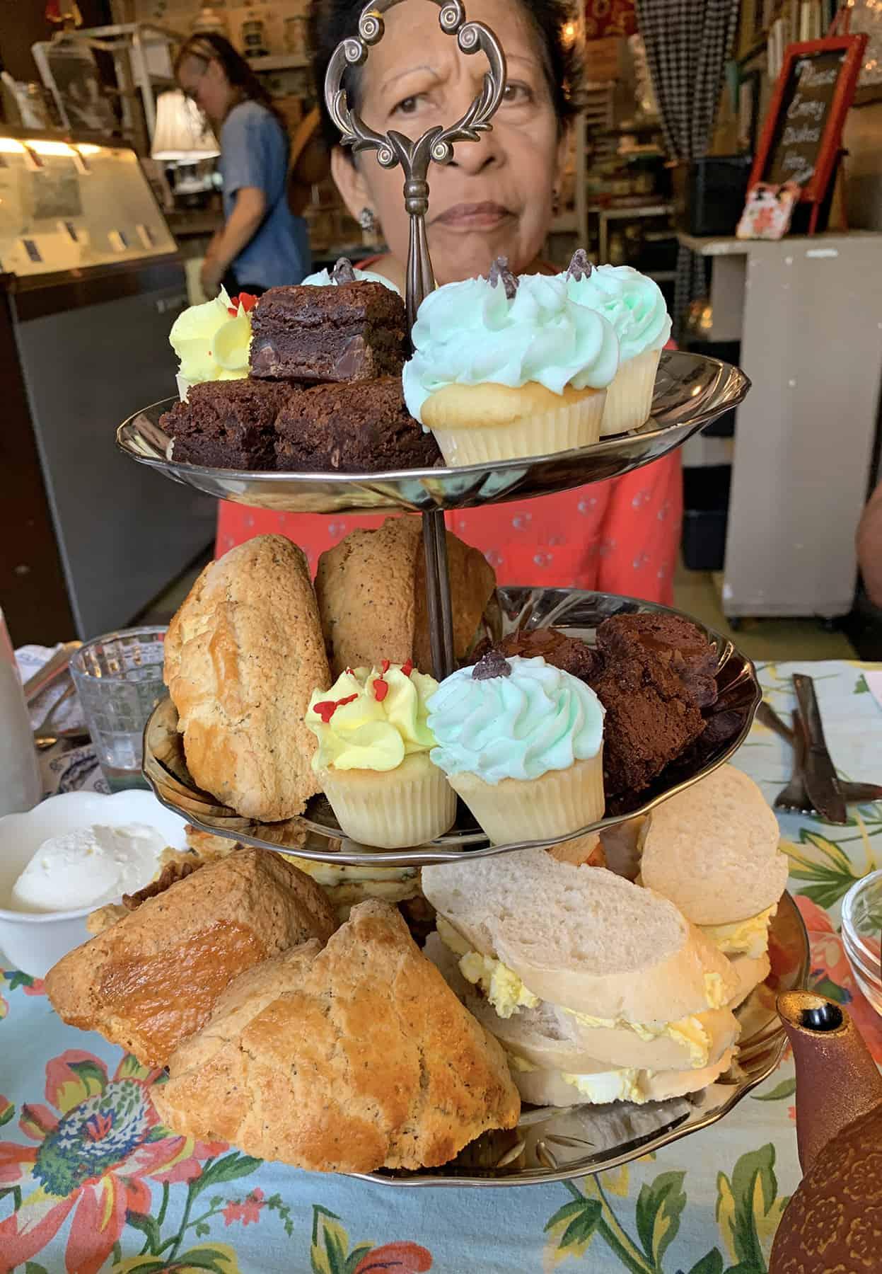 Dr. Bombays Underwater Tea Party Lemon Scones on Afternoon Tea Tray