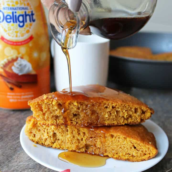 Easy Delicious No-Flip Pumpkin Spice Pancakes With Maple Syrup For Breakfast