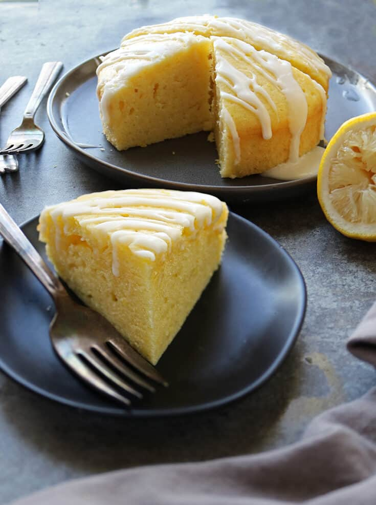 This gluten-free, melt-in-your-mouth-good, Easy Lemon Cake makes a delicious end to a meal and needs only 10 ingredients.