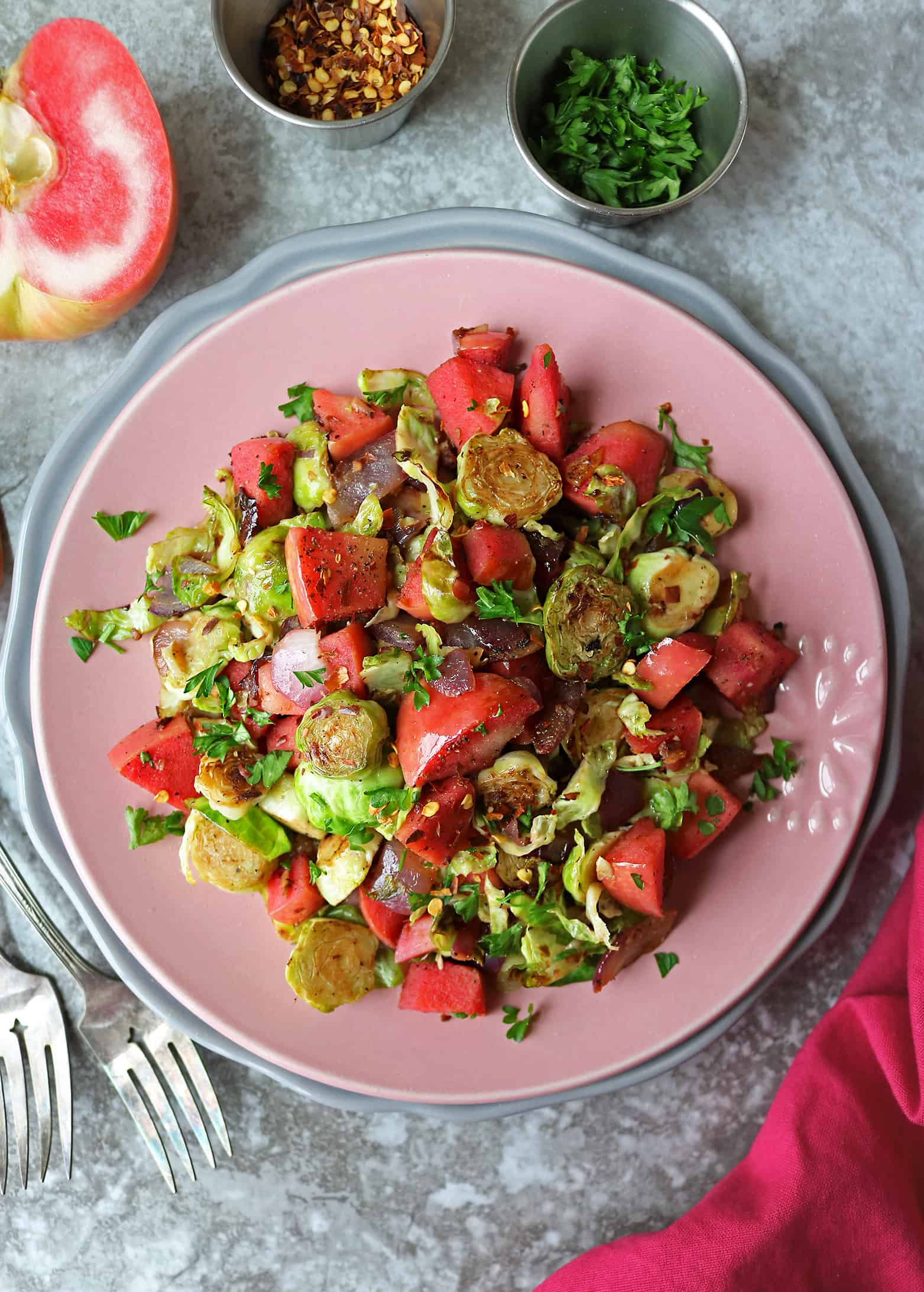 Easy Brussels Sprout Apple Salad