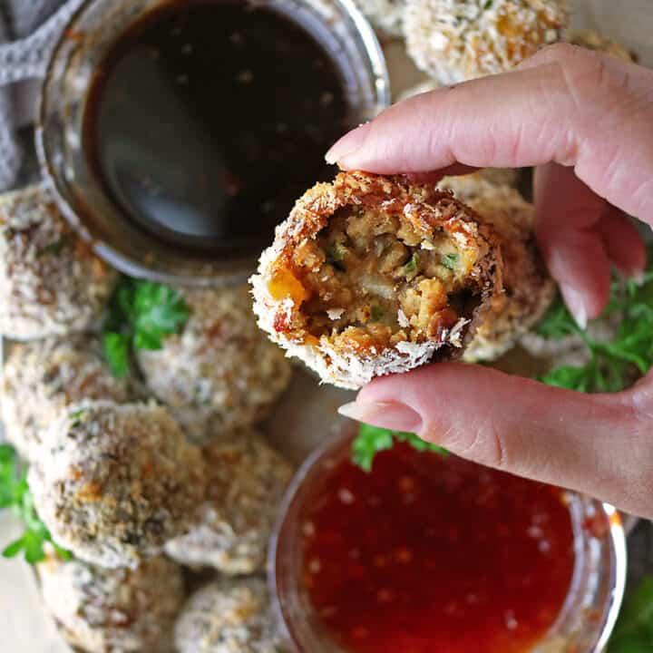 Garlic Chili Chicken Cutlets/Croquettes