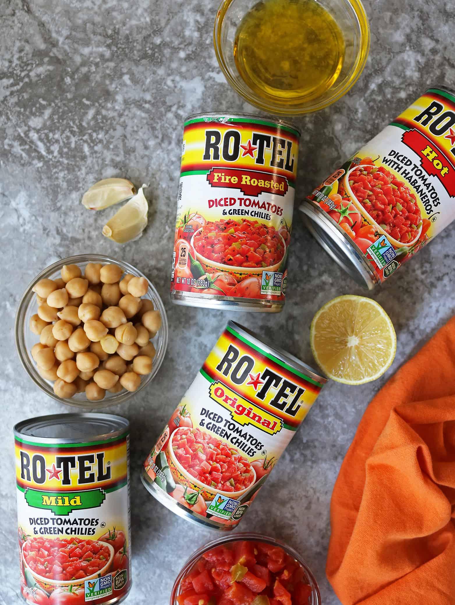 Ingredients For Making Tomato Hummus