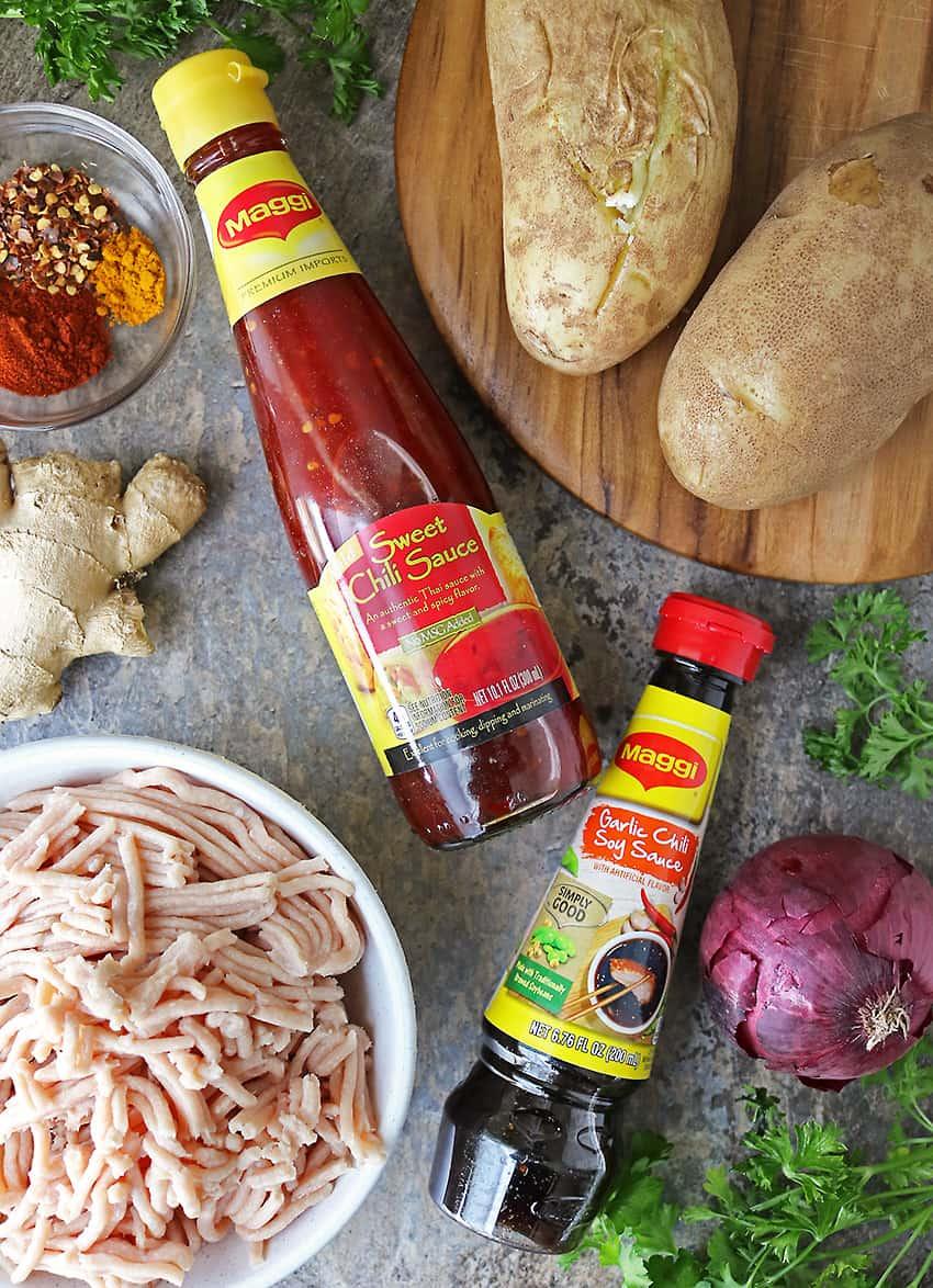 Ingredients to make Chicken Croquettes