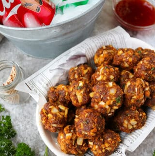Keto Spicy Chorizo Balls Recipe for the holidays.