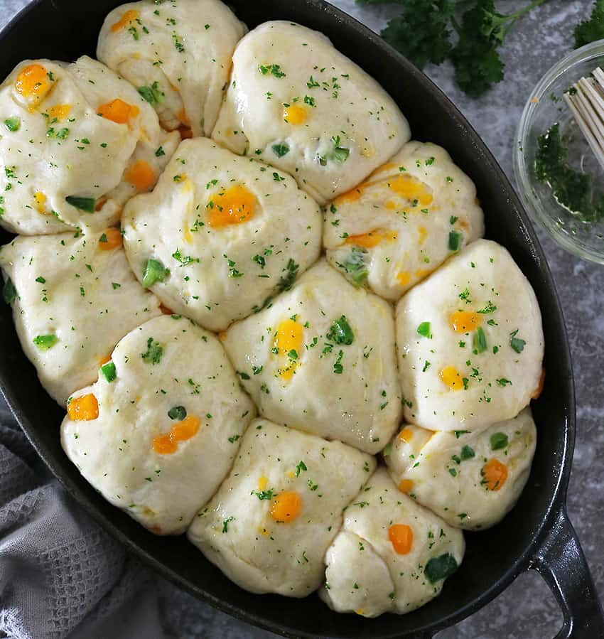 Ready To Bake Delicious Pull Apart Jalapeno Cheddar Parker House Rolls