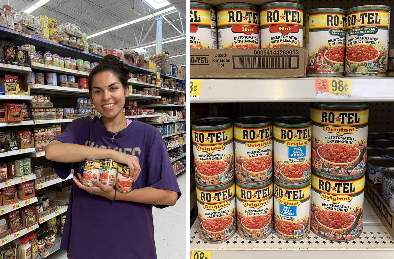 RO*TEL at Walmart stores.