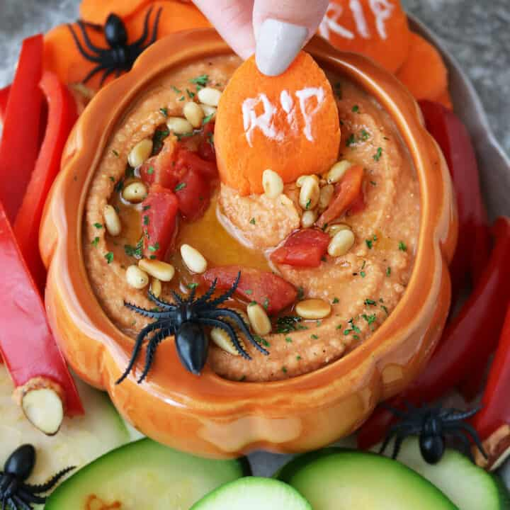 Tomato Hummus Recipe With RIP Carrot Chips