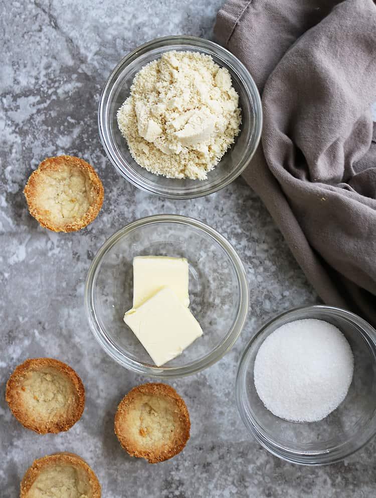 Image of Ingredients To Make 3 Ingredient Almond Crust