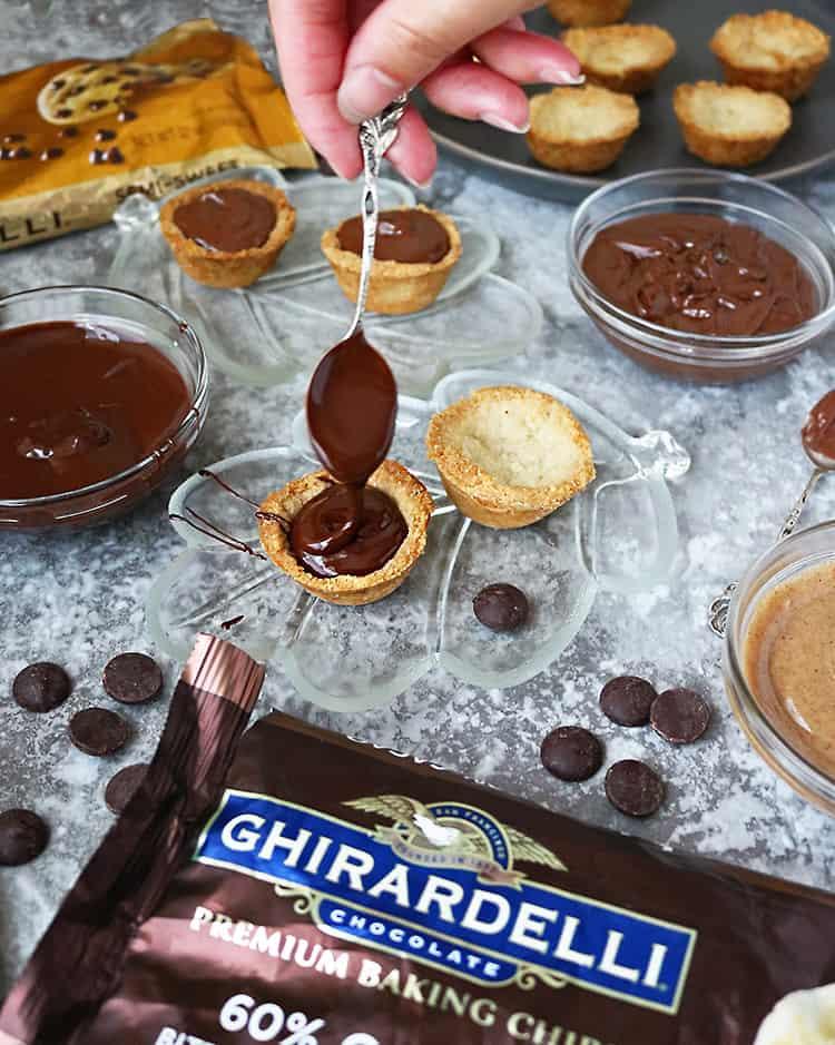 Making Chocolate Almond Tarts