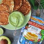 Birch Benders Keto Pancakes With Sweet Keto Avocado Cream FOR BREAKFAST