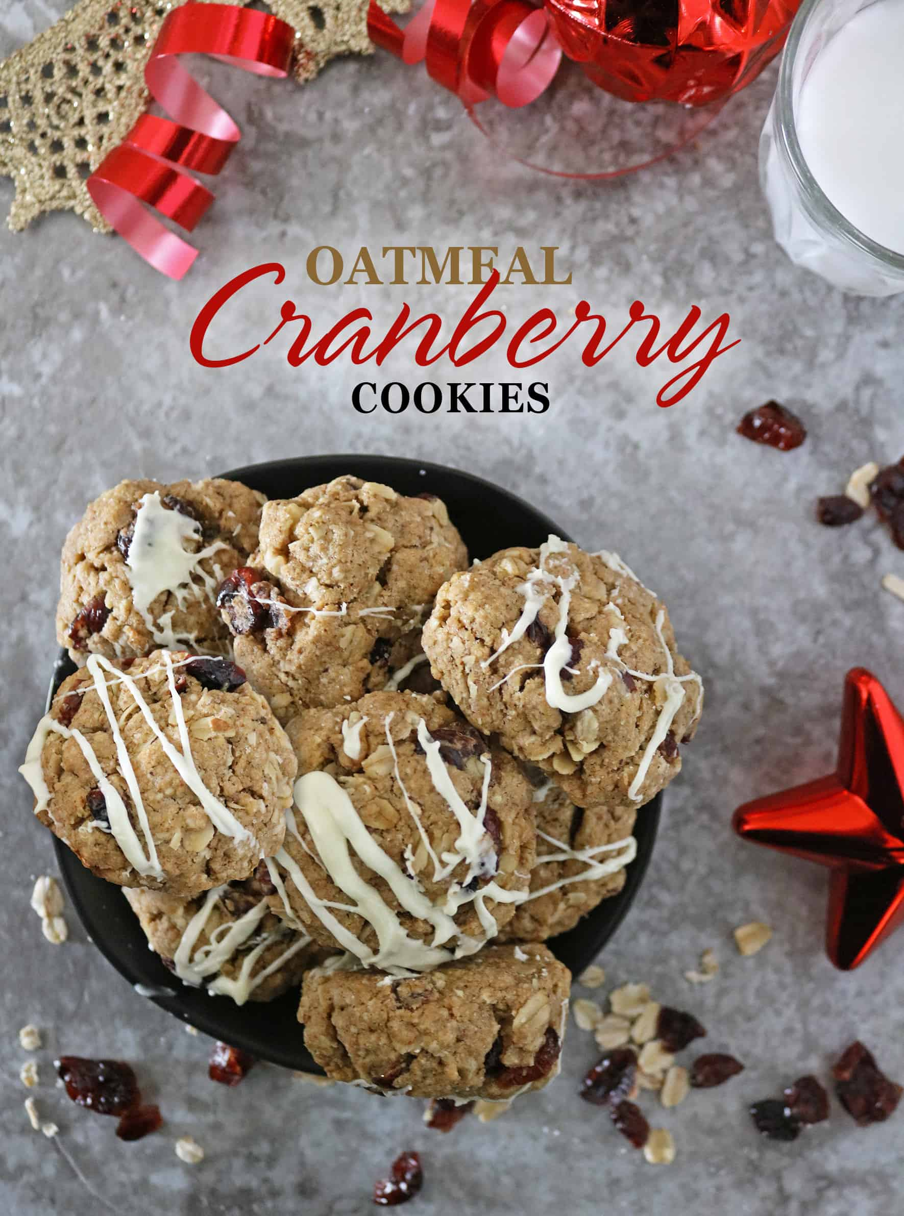 Christmas Cookie Exchange - Oatmeal Cranberry Cookies for the Sweetest Season