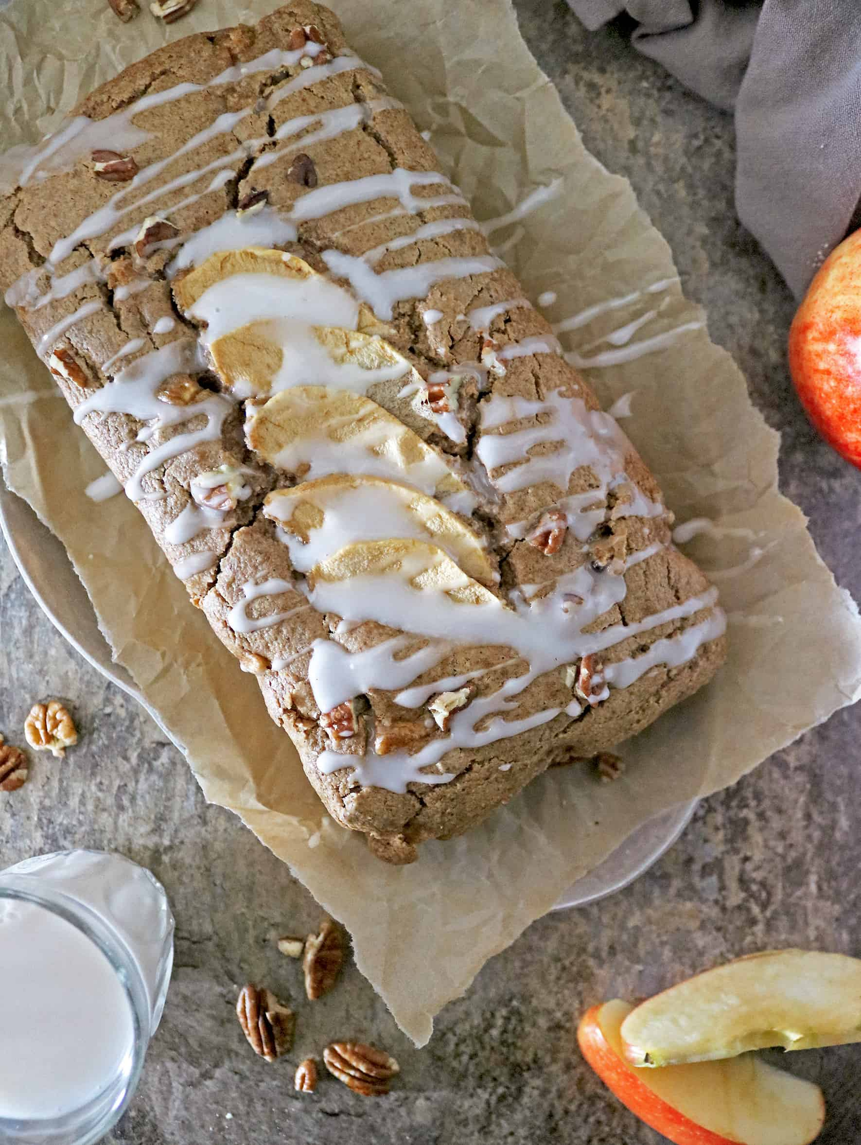Delicious Plant Based Apple Pecan Bread With Silk
