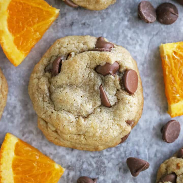 Gluten Free Chocolate Chip Cookies with Orange