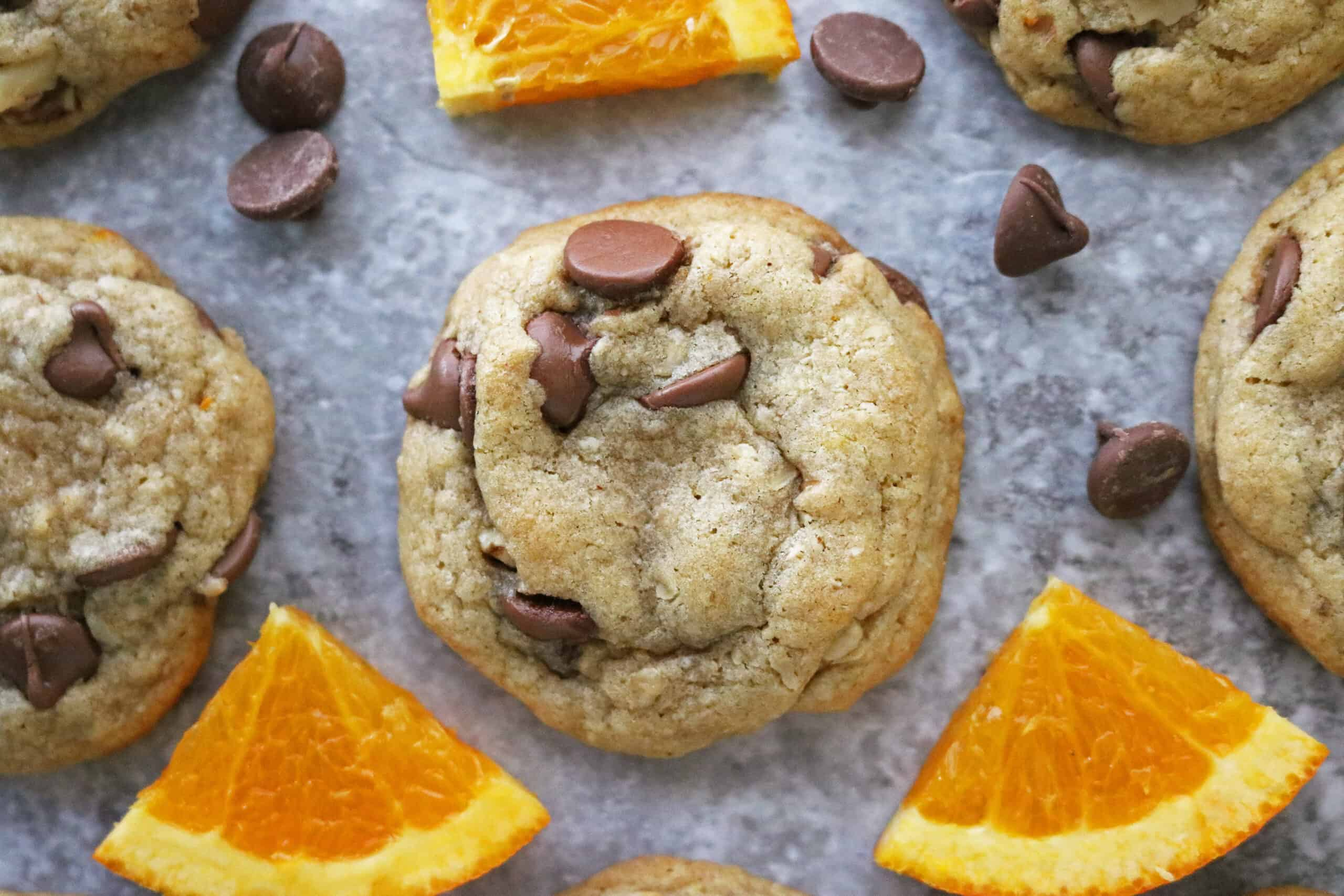 Easy and so delicious chocolate orange cookies ready to enjoy.
