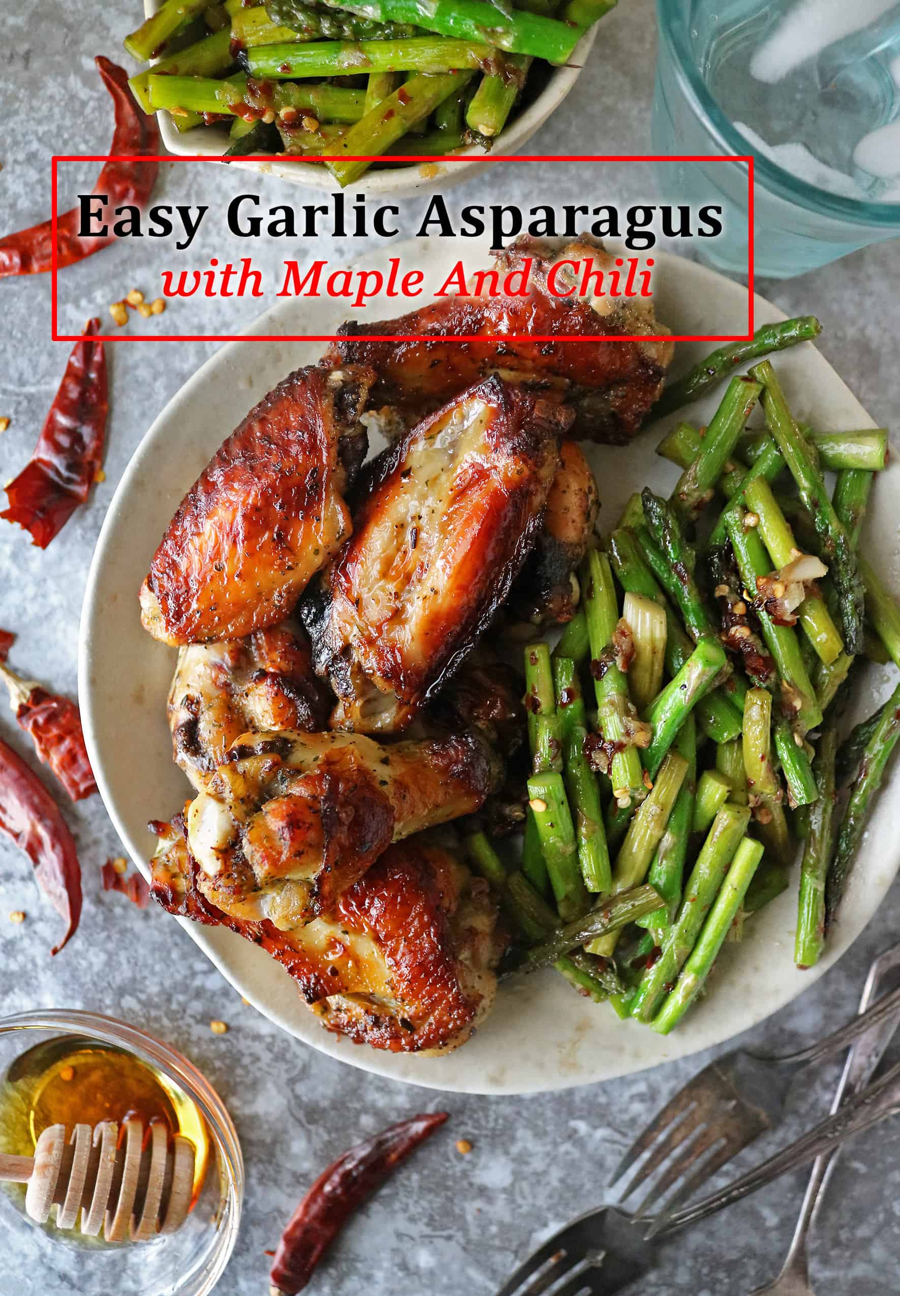 Easy Garlic Asparagus with Maple And Chili #FamilyFarming #ThankAFarmer #FamilyFarmers @PerdueFarms