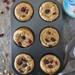 Easy Gluten Free Cranberry Walnut Muffins