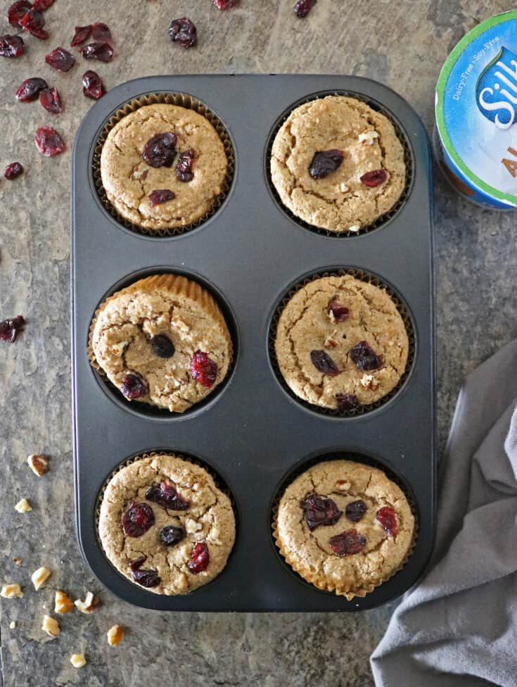 Looking for a quick grab and go breakfast? Then, these plant-based Cranberry Walnut Muffins are must try!