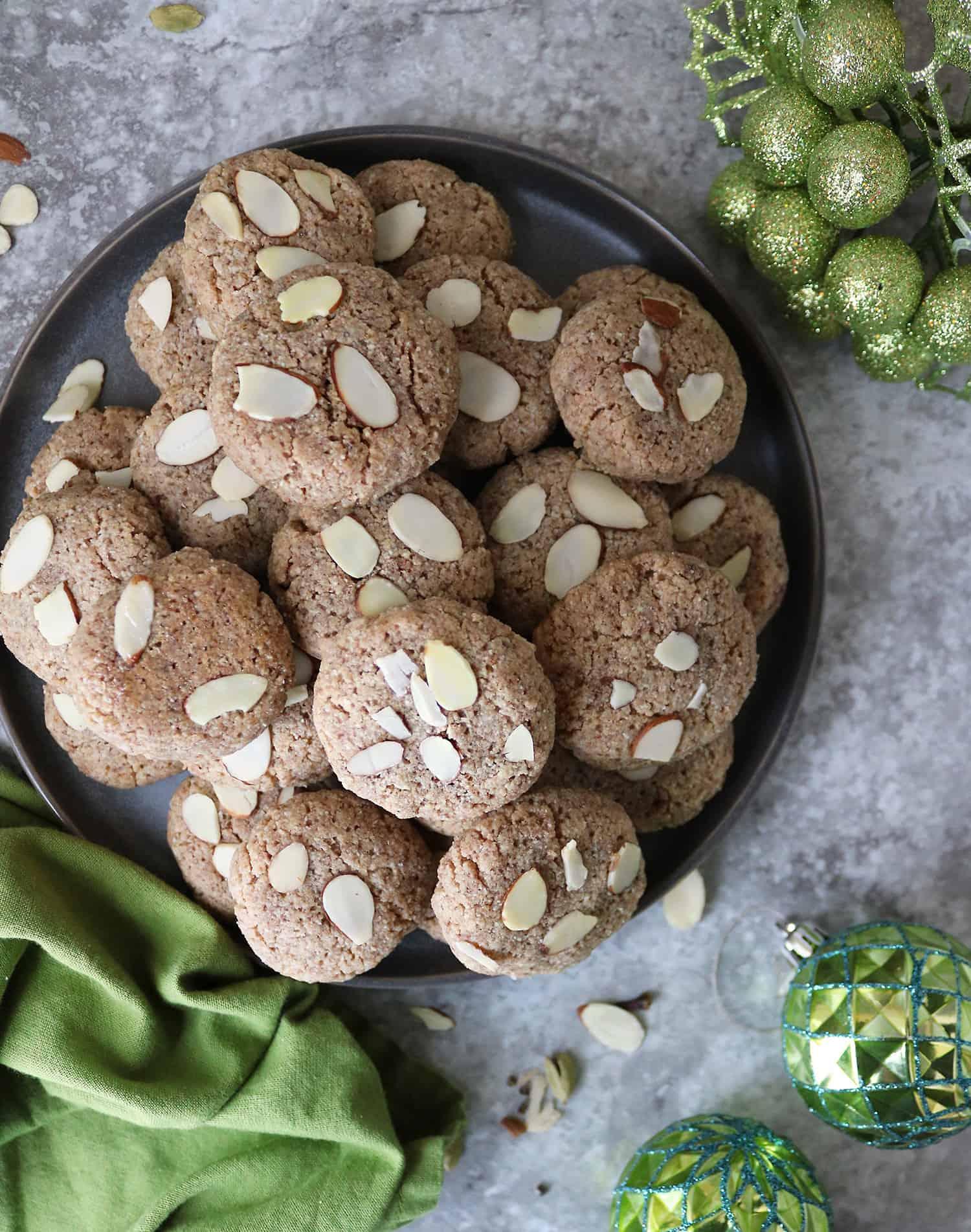 Plate of Grain-Free Keto Almond Cookies