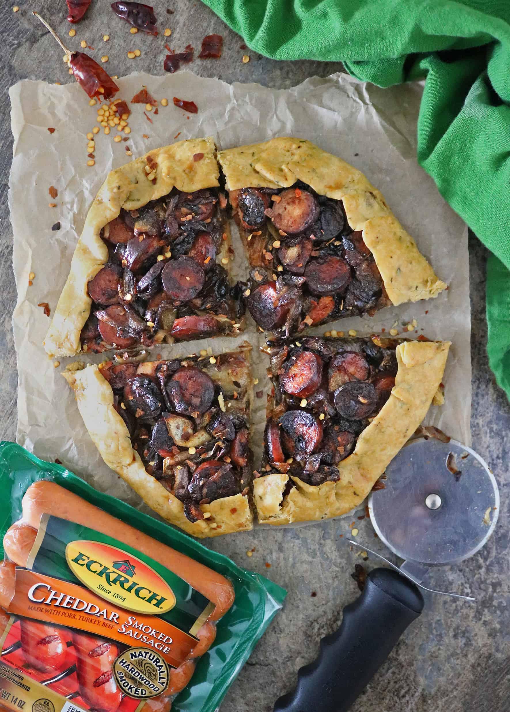 Onion Sausage Tart Recipe With Eckrich