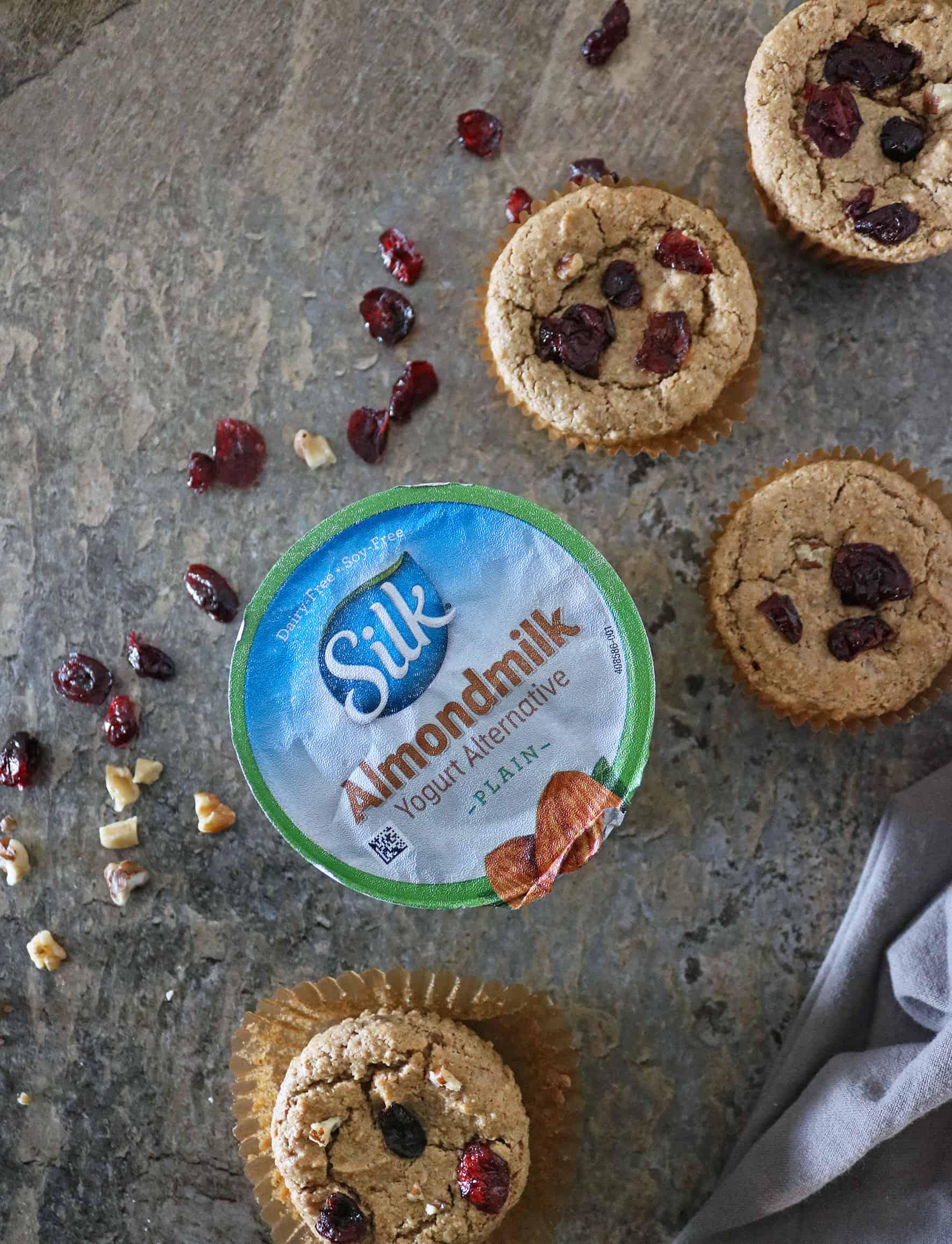 Plant-Based Gluten-Free Cranberry Walnut Muffins
