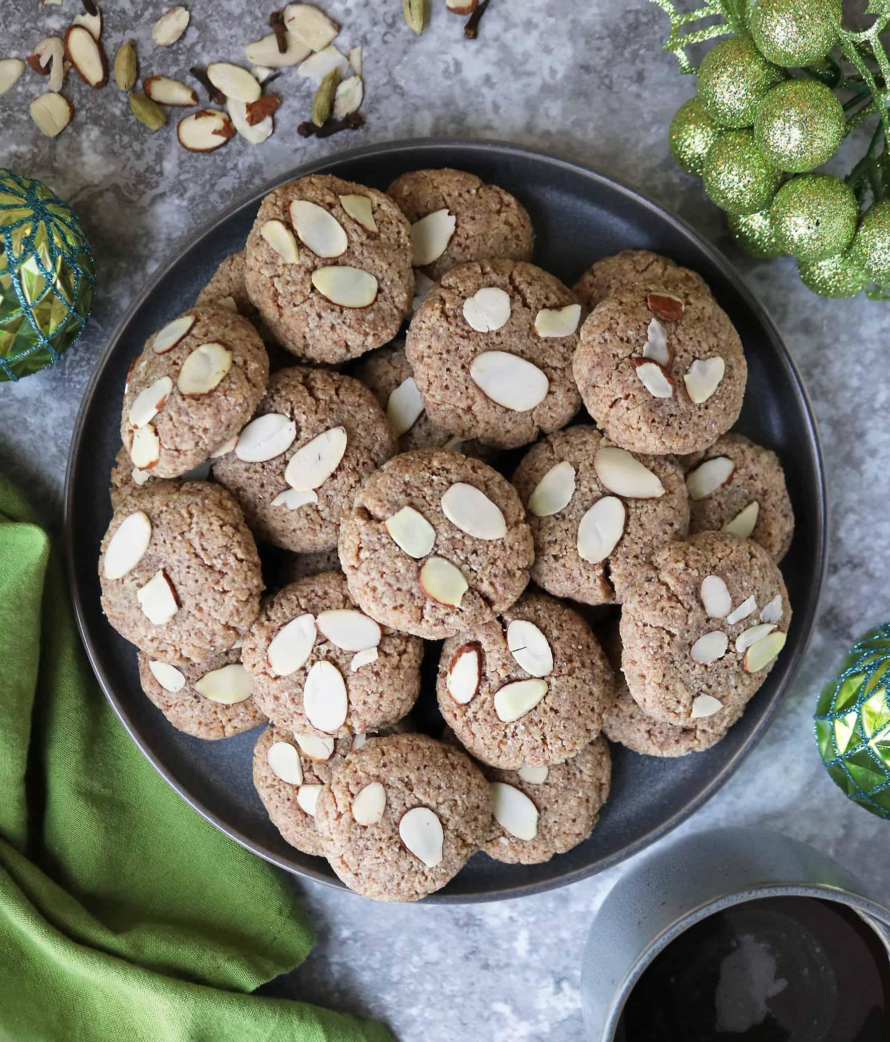 Plateful Of Gluten Free Keto Almond Cookies