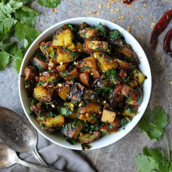Easy Potato Salad with Moringa Leaves Recipe