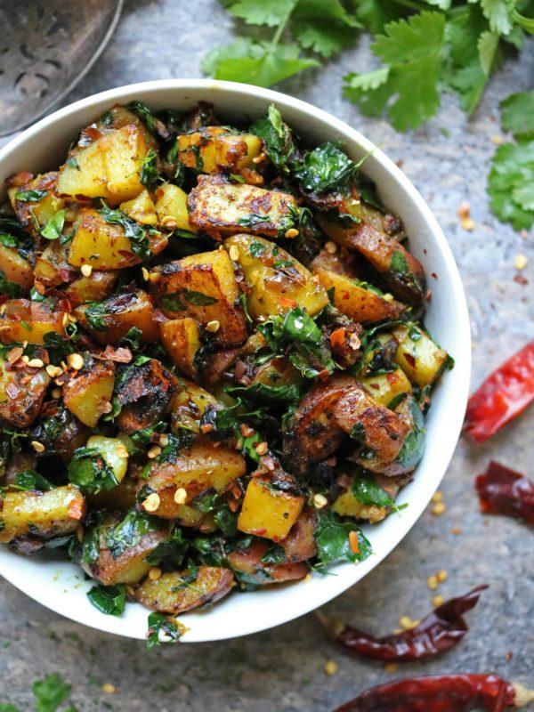 Potato Salad with Moringa Leaves