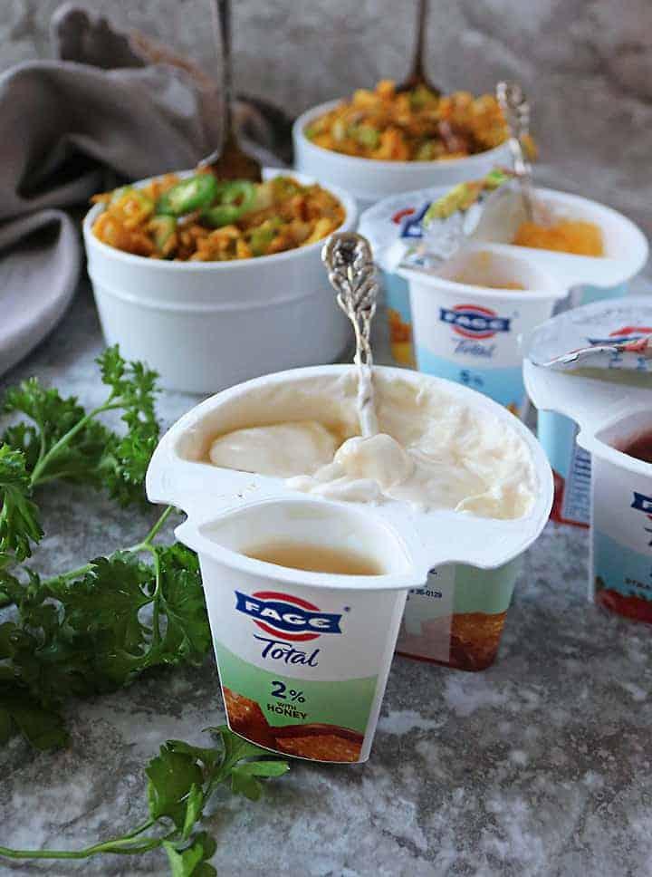 Creamy Fage Split Cup For Dessert After Warm Chicken Salad