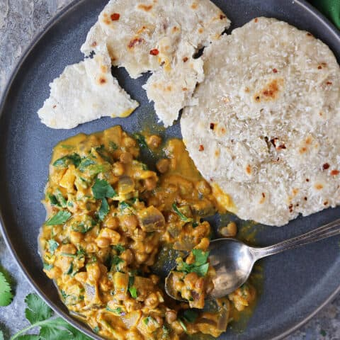 Quick, delicious and filling, this vegan lentil curry had us licking our plates.