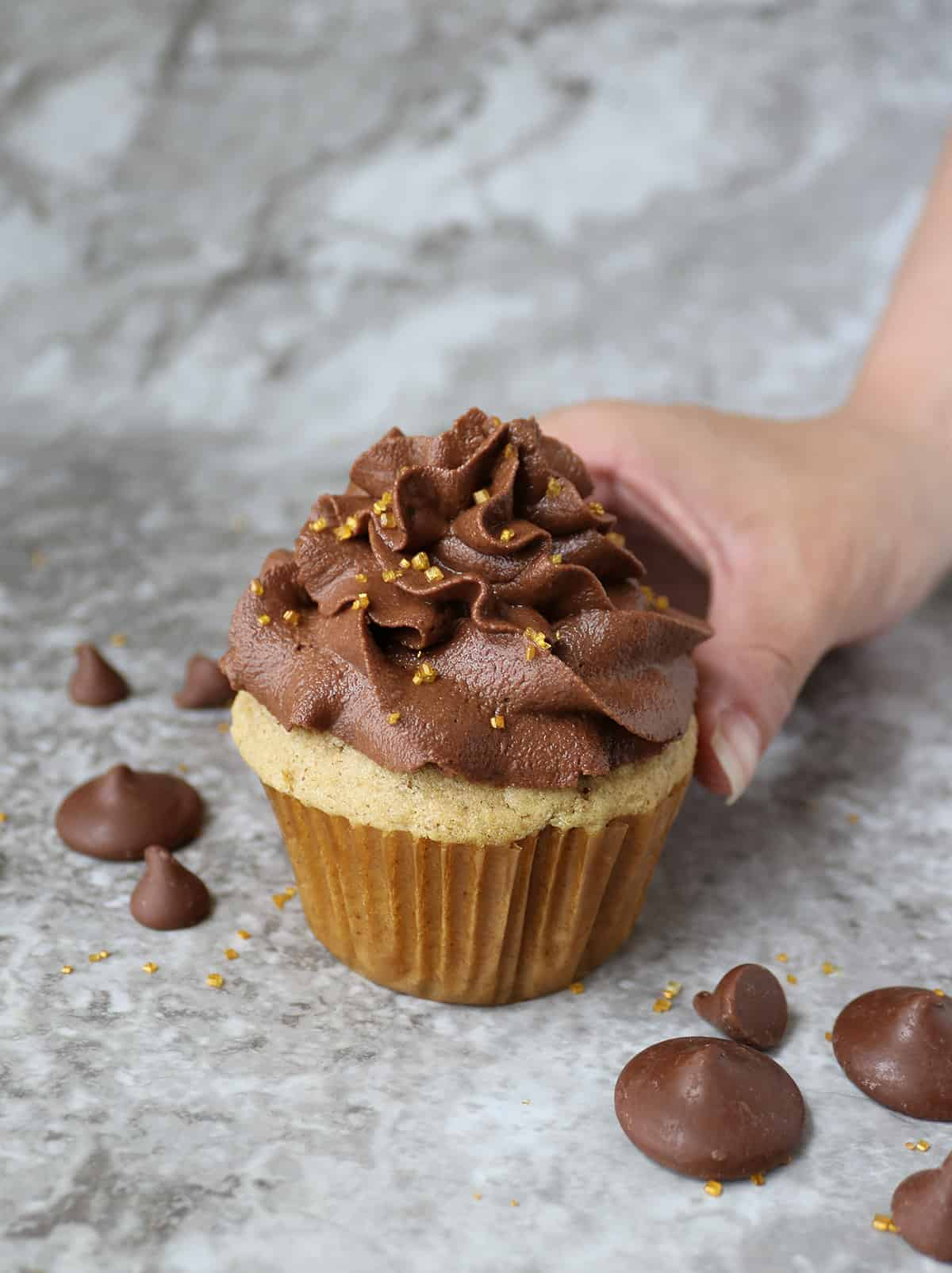 Easy vegan Cupcakes with vegan chocolate frosting