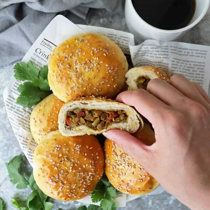 Lentil recipes: lentil stuffed buns