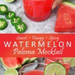 Watermelon Paloma Mocktail