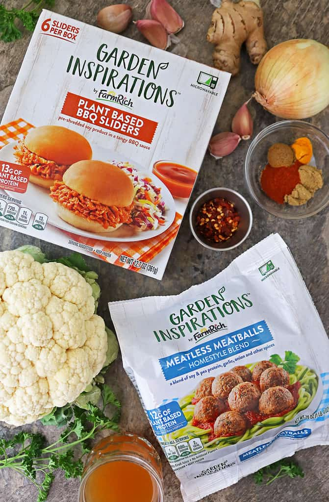 Two of Farm Rich Meatless Garden Inspirations which are new at Kroger