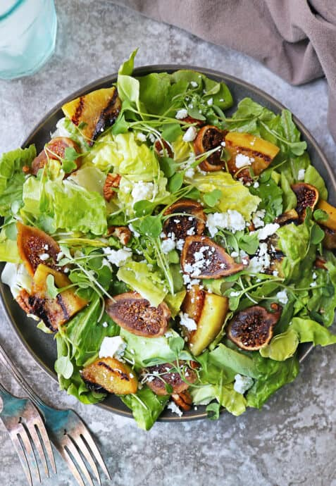 Melon Salad with grilled melon