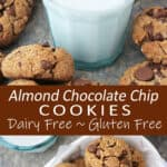 Wholesome and indulgent almond chocolate chip cookies