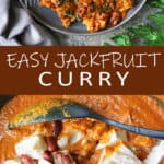Easy Vegan Jackfruit-Curry - no coconut milk