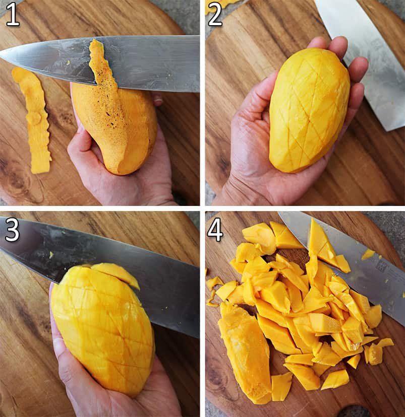 How to cut a mango in 4 steps